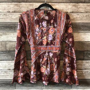 Plenty Women's Silk Floral Blouse